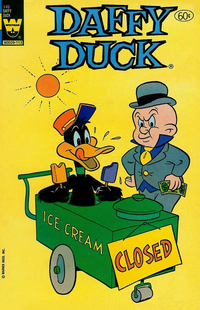 Cover for Daffy Duck (Western, 1962 series) #140 [White Logo Variant]