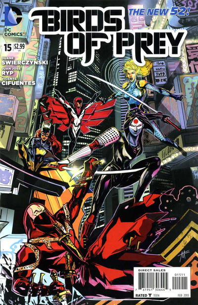 Cover for Birds of Prey (DC, 2011 series) #15