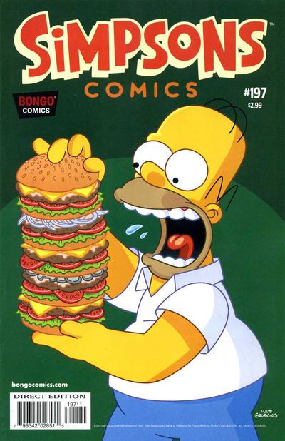 Cover for Simpsons Comics (Bongo, 1993 series) #197