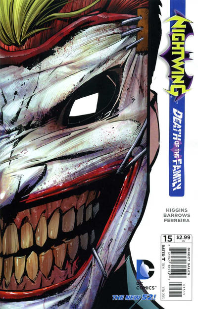 Cover for Nightwing (DC, 2011 series) #15 [Newsstand Edition]