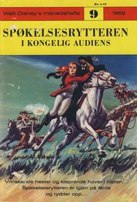 Cover Thumbnail for Walt Disney's Månedshefte (Hjemmet / Egmont, 1967 series) #9/1968