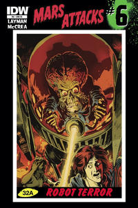 Cover Thumbnail for Mars Attacks (IDW, 2012 series) #6 [Retailer incentive]