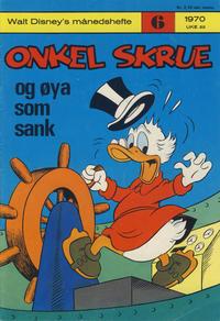 Cover Thumbnail for Walt Disney's månedshefte (Hjemmet / Egmont, 1967 series) #6/1970