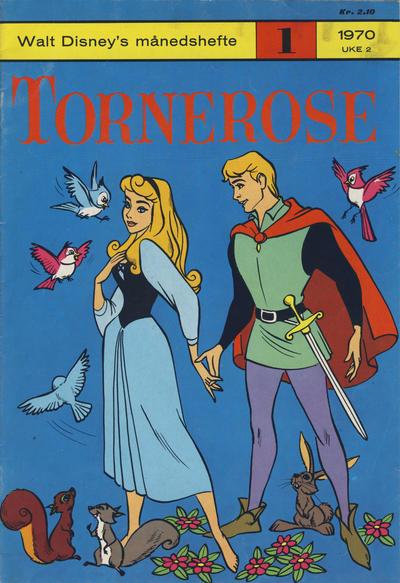 Cover for Walt Disney's Månedshefte (Hjemmet / Egmont, 1967 series) #1/1970