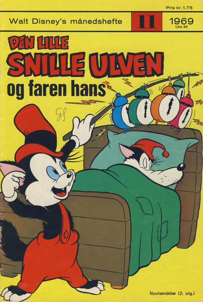 Cover for Walt Disney's Månedshefte (Hjemmet / Egmont, 1967 series) #11/1969