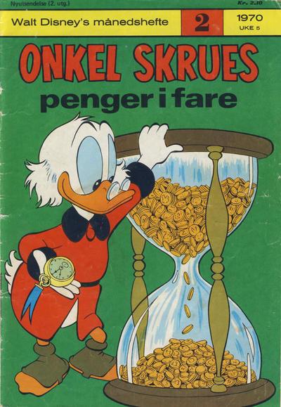 Cover for Walt Disney's Månedshefte (Hjemmet / Egmont, 1967 series) #2/1970