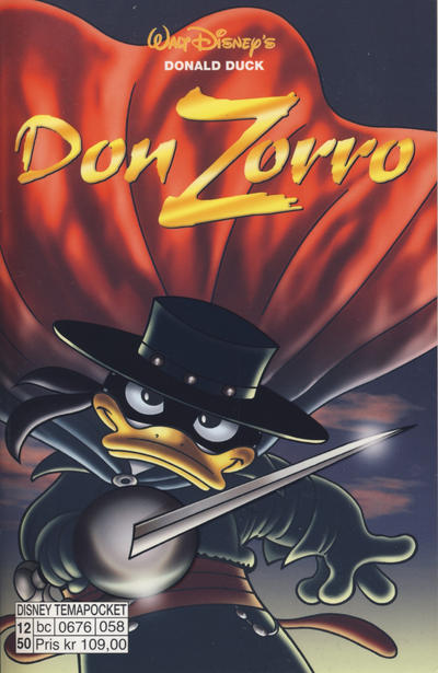 Cover for Donald Duck Tema pocket; Walt Disney's Tema pocket (Hjemmet / Egmont, 1997 series) #[54] - Don Zorro