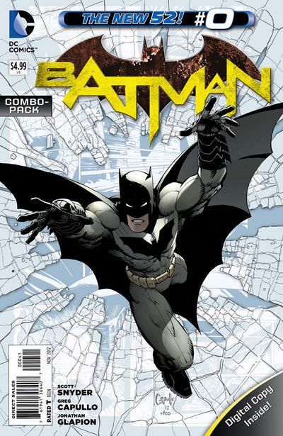 Cover for Batman (DC, 2011 series) #0 [We Can Be Heroes Blank Cover]