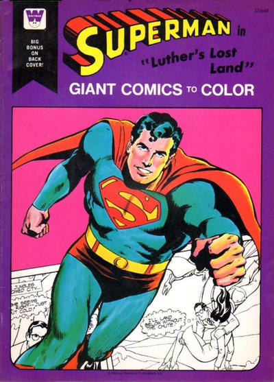 """Cover for Superman in """"Luther's Lost Land"""" [Giant Comics to Color] (Western, 1975 series) #1716"""