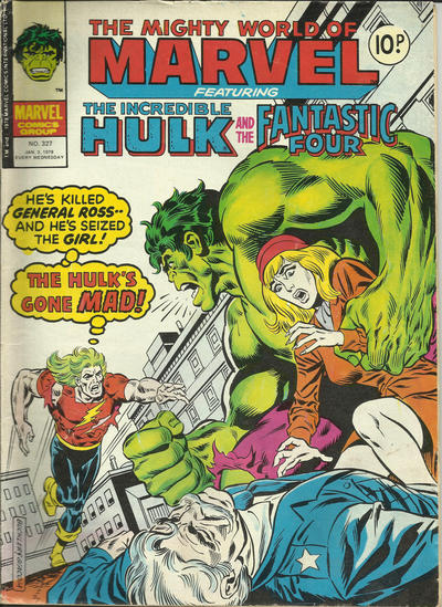 Cover for The Mighty World of Marvel (Marvel UK, 1972 series) #327