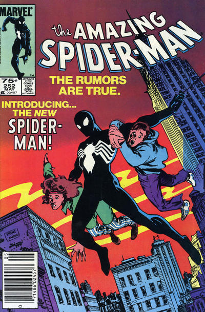 Cover for The Amazing Spider-Man (Marvel, 1963 series) #252 [Direct Edition]