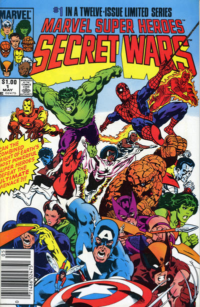 Cover for Marvel Super-Heroes Secret Wars (Marvel, 1984 series) #1 [Newsstand Edition]