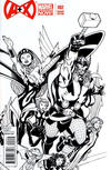 Cover Thumbnail for A+X (2012 series) #2 [Black & White Variant Cover by Ed McGuinness]