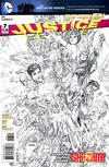 Cover for Justice League (DC, 2011 series) #7 [Jim Lee Sketch Cover]