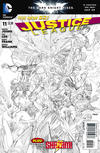 Cover for Justice League (DC, 2011 series) #11 [Sketch Variant Cover by Jim Lee]