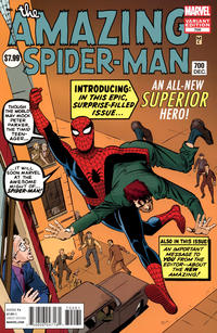 Cover Thumbnail for The Amazing Spider-Man (Marvel, 1999 series) #700 [Steve Ditko unused Amazing Fantasy #15 cover art variant]