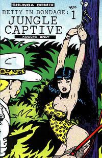 Cover Thumbnail for Betty in Bondage: Jungle Captive (Shunga Comix, 1990 ? series) #1