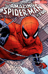 Cover Thumbnail for The Amazing Spider-Man (Marvel, 1999 series) #700 [Joe Quesada Wraparound Variant]