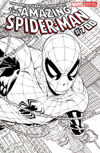 Cover Thumbnail for The Amazing Spider-Man (Marvel, 1999 series) #700 [Joe Quesada Wraparound Sketch Variant]