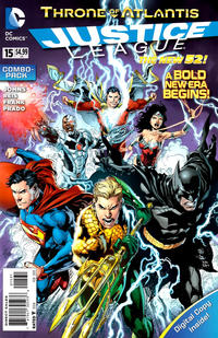 Cover Thumbnail for Justice League (DC, 2011 series) #15 [Combo-Pack Edition Cover by Ivan Reis]