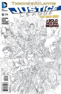 Cover Thumbnail for Justice League (DC, 2011 series) #15 [Sketch Variant Cover by Ivan Reis]