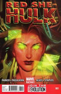 Cover for Red She-Hulk (Marvel, 2012 series) #61