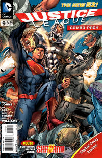 Cover Thumbnail for Justice League (DC, 2011 series) #9 [Combo-Pack Edition Cover by Jim Lee]