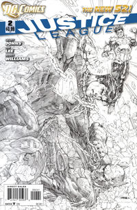 Cover Thumbnail for Justice League (DC, 2011 series) #2 [Sketch Variant Cover by Jim Lee]