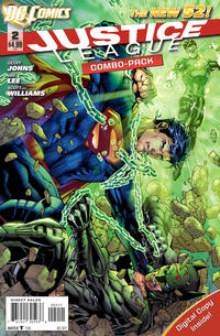 Cover Thumbnail for Justice League (DC, 2011 series) #2 [Combo-Pack Edition Cover by Jim Lee]
