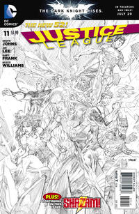 Cover Thumbnail for Justice League (DC, 2011 series) #11 [Sketch Variant Cover by Jim Lee]