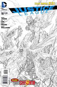 Cover Thumbnail for Justice League (DC, 2011 series) #10 [Sketch Variant Cover by Jim Lee]