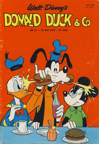 Cover for Donald Duck & Co (Hjemmet / Egmont, 1948 series) #21/1970