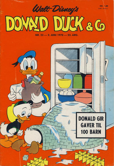 Cover for Donald Duck & Co (Hjemmet / Egmont, 1948 series) #23/1970