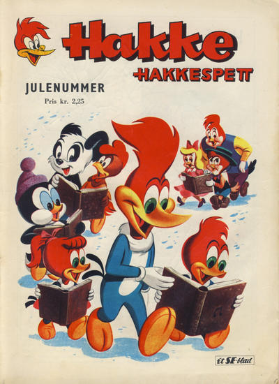Cover for Hakke Hakkespett og andre skøyere [Hakke Hakkespett julenummer] (Serieforlaget / Se-Bladene / Stabenfeldt, 1961 series) #[1961]