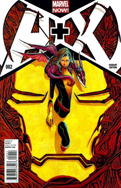 Cover for A+X (Marvel, 2012 series) #2 [Variant Cover by Mike Del Mundo]