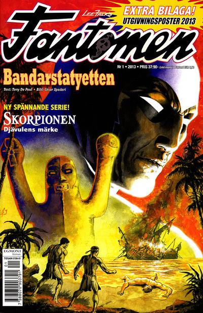 Cover for Fantomen (Egmont, 1997 series) #1/2013