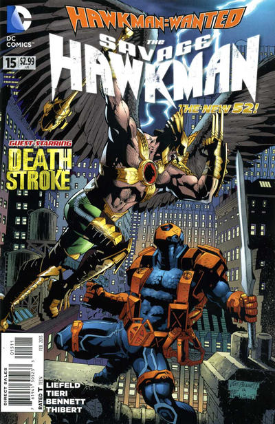 Cover for The Savage Hawkman (DC, 2011 series) #15