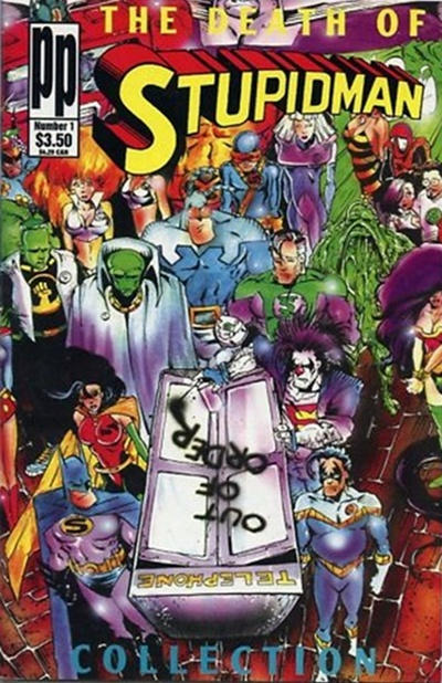 Cover for The Death of Stupidman (Entity-Parody, 1993 series) #1