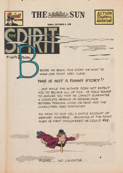 Cover for The Spirit (Register and Tribune Syndicate, 1940 series) #9/5/1948