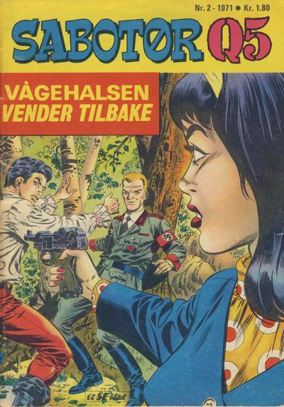 Cover for Sabotør Q5 (Serieforlaget / Se-Bladene / Stabenfeldt, 1971 series) #2/1971