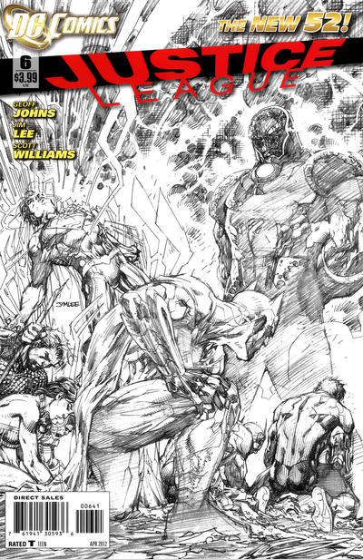 Cover for Justice League (DC, 2011 series) #6 [Combo-Pack Edition Cover by Jim Lee]