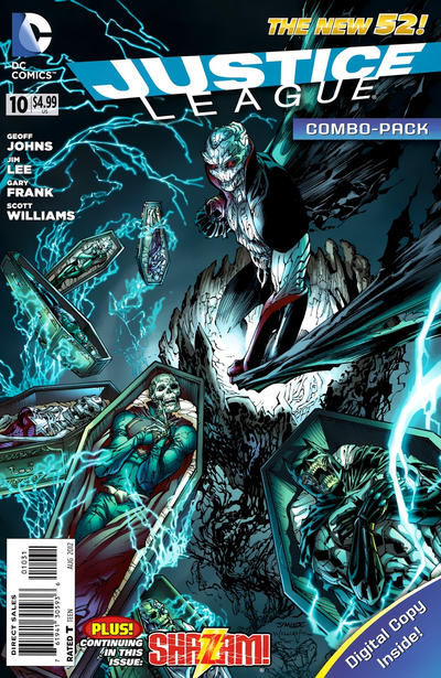Cover for Justice League (DC, 2011 series) #10 [Combo-Pack Edition Cover by Jim Lee]