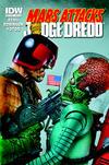 Cover Thumbnail for Mars Attacks Kiss (2013 series)  [Mars Attacks Judge Dredd variant]