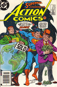 Cover Thumbnail for Action Comics (DC, 1938 series) #573 [Newsstand]