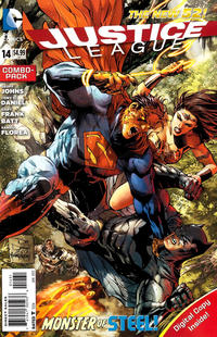 Cover Thumbnail for Justice League (DC, 2011 series) #14 [Combo-Pack Edition Cover by Tony Daniel]