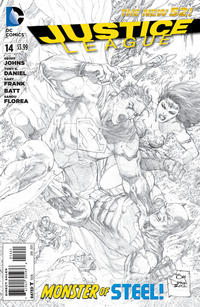 Cover Thumbnail for Justice League (DC, 2011 series) #14 [Sketch Variant Cover by Tony Daniel]