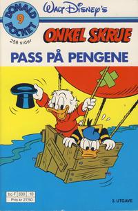 Cover Thumbnail for Donald Pocket (Hjemmet / Egmont, 1968 series) #9 - Onkel Skrue, pass på pengene [3. opplag Reutsendelse 330 10]