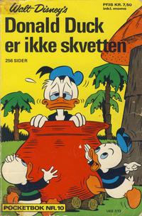 Cover Thumbnail for Donald Pocket (Hjemmet / Egmont, 1968 series) #10 - Donald Duck er ikke skvetten [1. opplag]