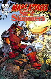 Cover Thumbnail for Mars Attacks Kiss (IDW, 2013 series)  [Mars Attacks Star Slammers variant]