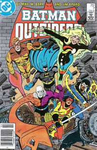 Cover Thumbnail for Batman and the Outsiders (DC, 1983 series) #7 [Newsstand]